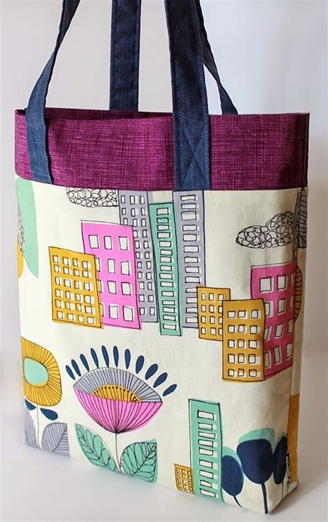 Pattern For Tote Bag Making | tri color ten step tote bag pattern allfreesewing com