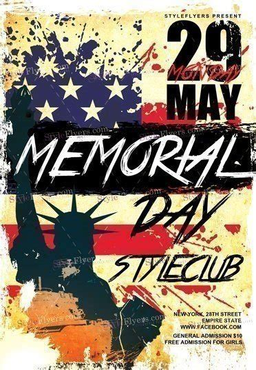 Memorial Day Flyer Template memorial day psd flyer template 18655 styleflyers