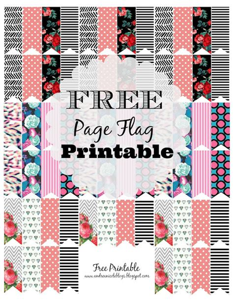 printable planner page flags best sticker printables for free plan to love this life