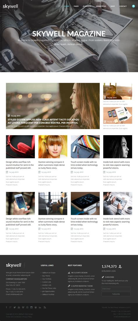 muse themes templates best news and magazine muse templates in 2015 responsive