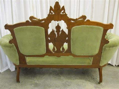 victorian style sofas for sale antique walnut victorian style button tuck sofa chaise for