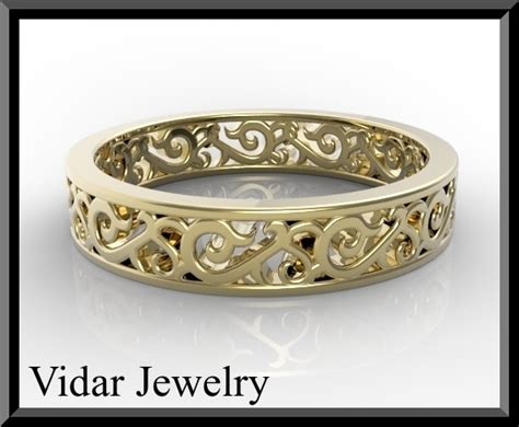 s wedding band yellow gold vidar jewelry unique