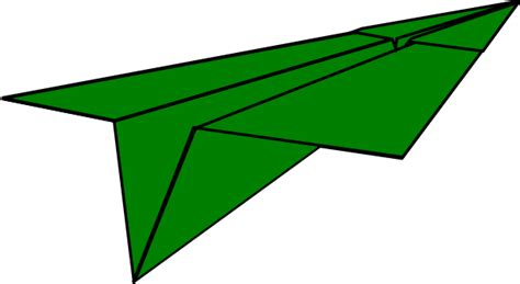 Paper Airplane - green paper airplane clip at clker vector clip