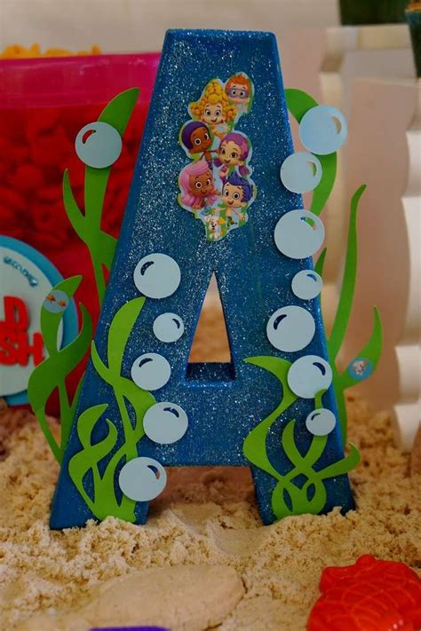 themed party letter c bubble guppies beach day birthday party ideas