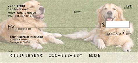 golden retriever personal checks golden retrievers personal checks