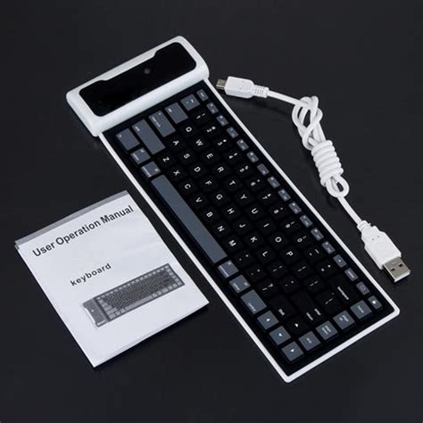 Wifi Flexi promotion 1pcs wireless flexiable bluetooth silicone roll up keyboard in keyboards from