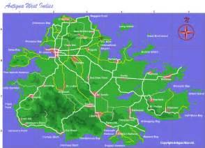 Bay Area Wedding Photographers Antigua Map Map Of Antigua Island And Antigua Maps By Area Including A Google Map Of Antigua