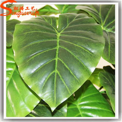 artificial big green leaves artificial plant for indoor outdoor view artificial big green
