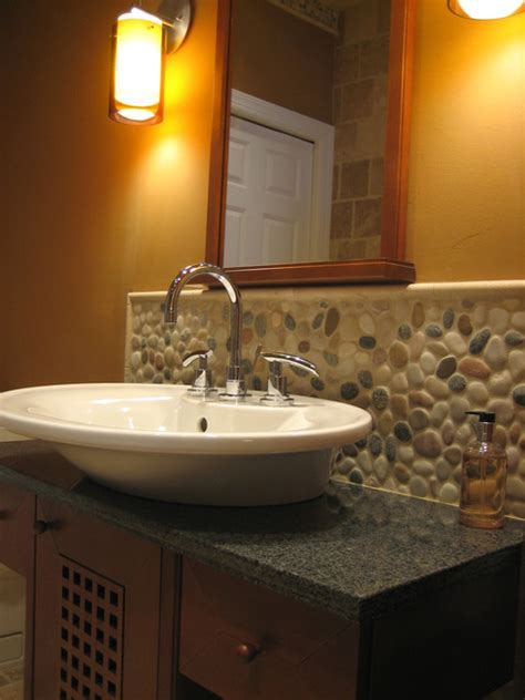 pebbles in bathroom island stone pebble bathroom design modern tile