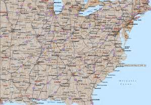 road map eastern united states image gallery highway map eastern us