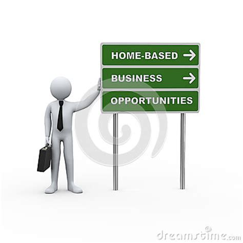 Home Based Business Opportunities by 3d Businessman Road Home Based Business Opportunities