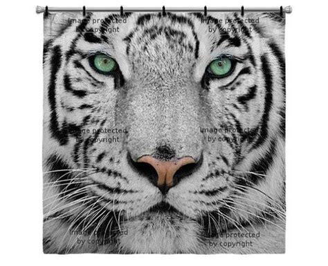 white tiger shower curtain white tiger shower curtain shower curtains pinterest