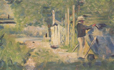 georges seurat most famous paintings georges seurat homme peignant son bateau description