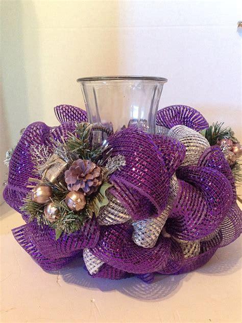 Decorations With Deco Mesh by Centerpiece Deco Mesh Centerpiece Purple