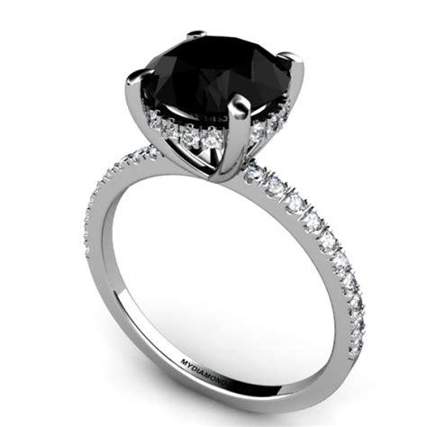 3 00ct black engagement ring aaa grade