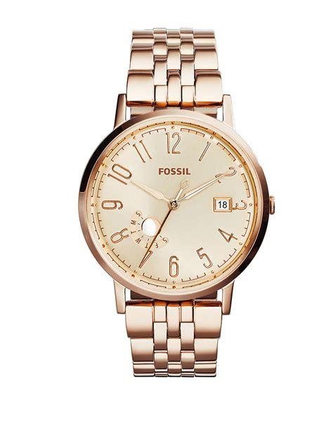 fossil vintage muse goldtone stainless steel bracelet