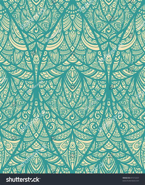 vector pattern eastern vector seamless eastern pattern blue stock vector 81515257