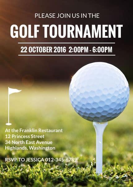 Sle Invitation Golf Tournament Gallery Invitation Sle And Invitation Design Free Golf Invitation Template