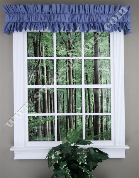 curtain topper rod sleeve topper slate blue ellis kitchen valances
