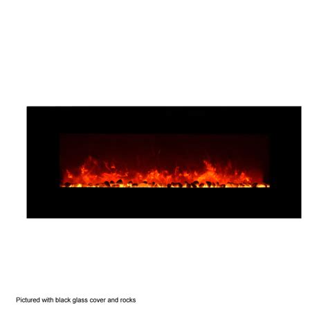 50 electric fireplace amantii 50 in wall mount electric fireplace w black glass