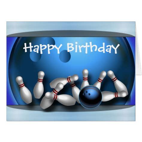 Strike Bowling Gift Card - happy birthday bowling ball strike card zazzle com