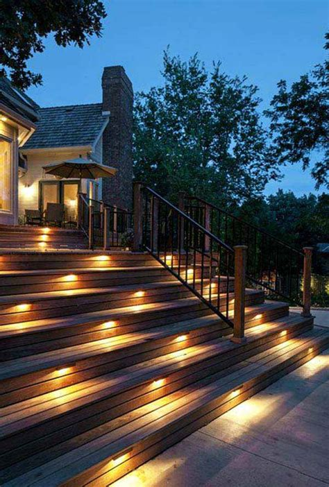 outdoor steps lighting 30 astonishing step lighting ideas for outdoor space