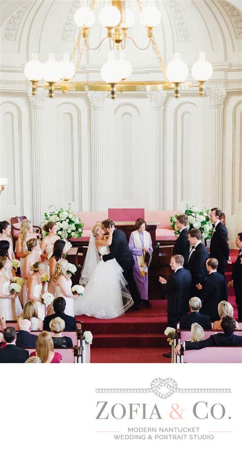 unitarian church wedding ceremony nantucket weddings by zofia co photography
