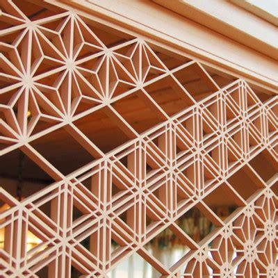 japanese modern pattern kumiko ramma screen ippin project