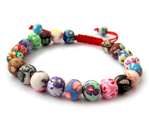 clay bead jewelry fimo polymer clay flowers adjustable bracelet ovalbuy