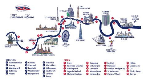 Map Of River Thames Central London | thames river map jpg 1754 215 966 geo western central