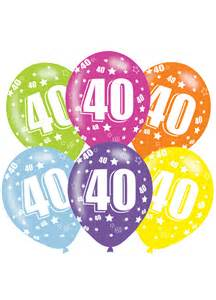 Happy 40th birthday latex balloons 6pk party britain fancy dress