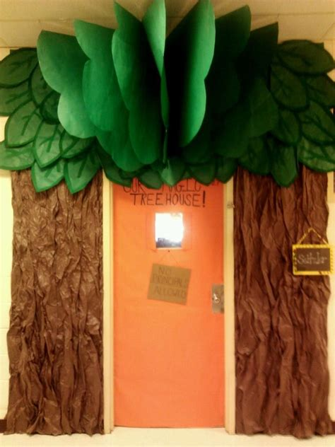 themes in house of leaves magic tree house door entrance with brown butcher paper