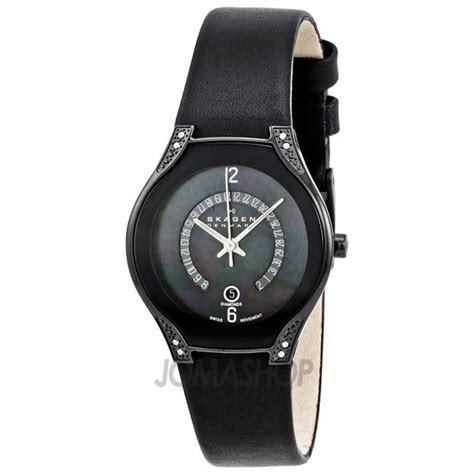 skagen denmark black label black 886sblb