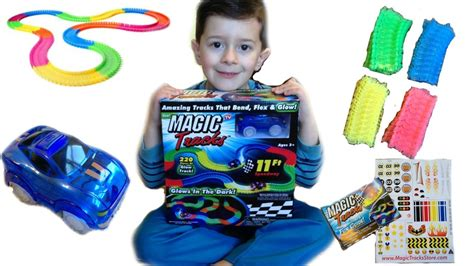light up race track as seen on tv as seen on tv glow in the magic tracks with light up