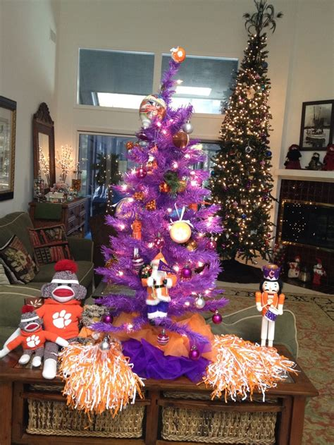 clemson football christmas tree clemson pinterest