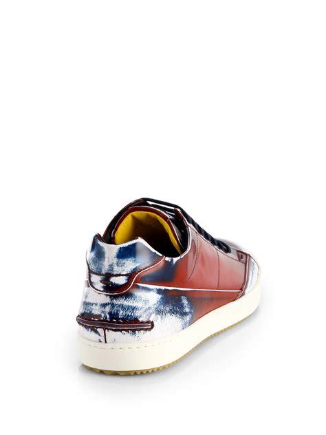 spray paint jordans fendi spraypaint laceup sneakers in for lyst