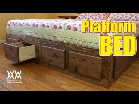 king sized bed frame  lots  storage youtube