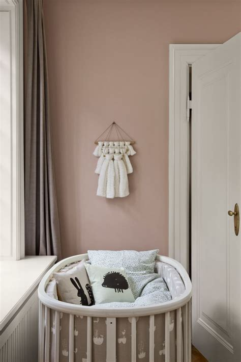 rose themed nursery ferm living kids aw15 baby room danish design kids