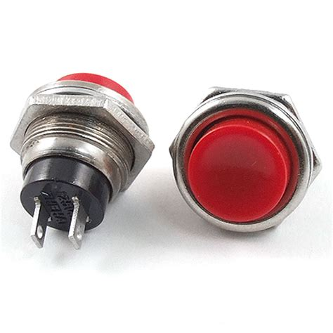 Switch Button 3 pcs ac 125v 3a spst normal open momentary push button