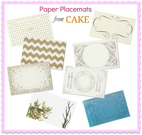 How To Make A Paper Placemat - trend alert paper place mats celebrations at home