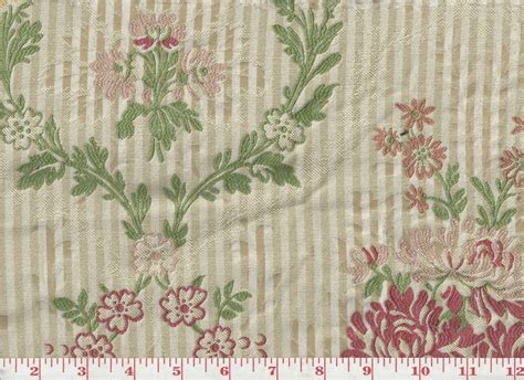 english upholstery fabric floral jacquard on striped background upholstery fabric