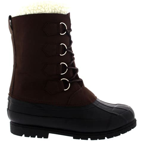 mens winter rubber boots mens winter wool lined 100 rubber duck sole warm casual