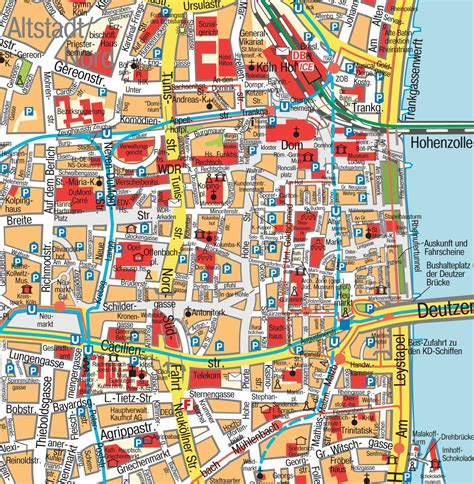 map of koln germany map cologne k 246 ln nrw germany maps and directions at