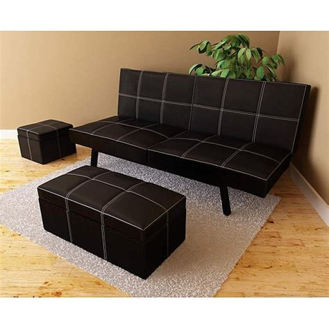 futon in living room delaney futon sofa bed 3 piece living room set black