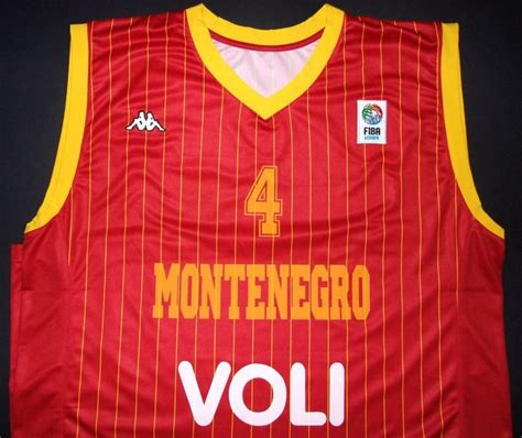 Baju Basket Usa nikola vucevic montenegro basketball fiba jersey orlando magic match worn from 220 0