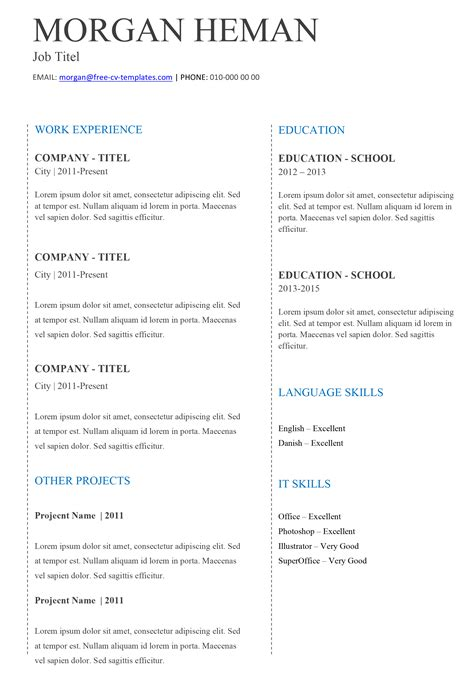 simple curriculum vitae template basic tc simple resume template