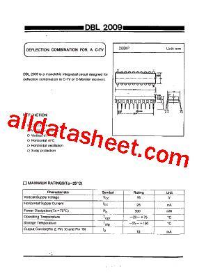 Ic Tda9111 dbl2009 datasheet pdf daewoo semiconductor