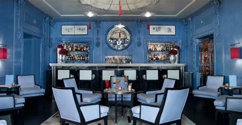 blue room bar the blue bar reinterpreted for a home by david collins studio living room ideas