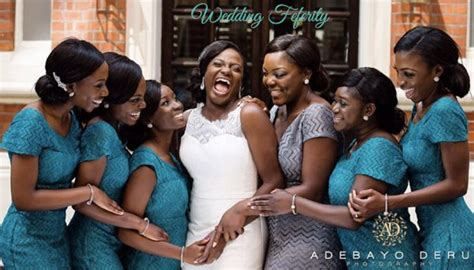 peach navy blue nigerian nigeria chief bridesmaid dresses