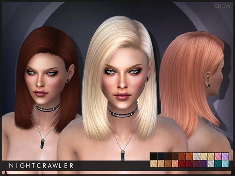 sims 3 hair braid tsr the sims resource over nightcrawler sims nightcrawler crow
